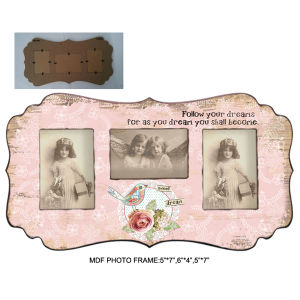 Vintage Word Decorative MDF Wood Funny Photo Frame pictures & photos