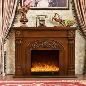 European Wood LED Heater Electric Fireplace with Ce Approved (337B) pictures & photos