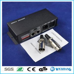 DC 12V-24V 3CH RGBW DMX 512 Decoder LED Control for RGB 5050 LED Strip Light pictures & photos