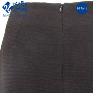Newstyle Rayon Black Rear-Zipper Sexy Skinny Fashion Women Skirt pictures & photos