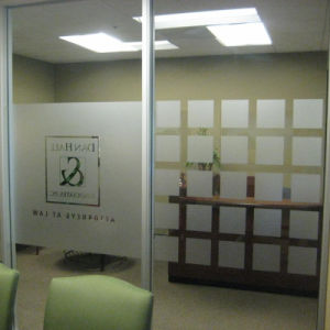 High Quality Die Cut Frosted Window Film with Own Logo pictures & photos