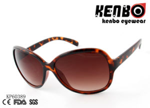 Oval Shape Frame with Tort Patten Fully Plastic Sunglasses Kp60389 FDA, Ce, SGS, UV400 pictures & photos