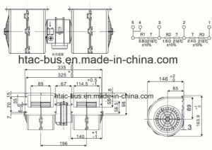 China Supplier Professional 15 Years Bus A/C Evaporator Blower 24V Spal 009-B40 Vll-22 pictures & photos