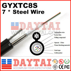 Outdoor Fig8 Steel Wire Fiber Optical Single Mode Multi-Mode Gyxtc8s Cable pictures & photos
