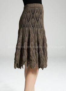 Vintage Hand Crochet Evening Party Skirt Evening Dress Apparel Beachwear pictures & photos