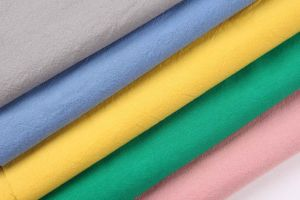 Fake Linen 100%Cotton Plain Crushed Fabric pictures & photos