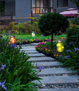 Best Selling Decorative Light Sensor Twinkle LED Solar Mason Jar Light pictures & photos