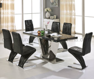 Popular Dining Table and Metal Dining Chair 823# pictures & photos