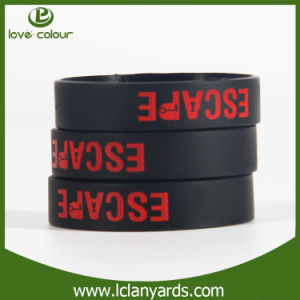 Promotional Black Screen Silicon Wristband Printing Logo Design pictures & photos