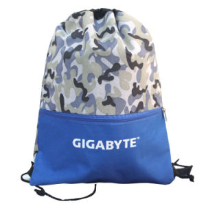 210d Blue Polyester Nylon Drawstring Bag Backpack (YYDB040) pictures & photos