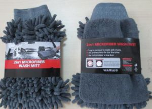 Microfiber Chenille Car Cleaning Gloves (YYCG-020) pictures & photos