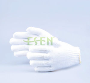 Machine Automatic Knitting Cotton Yarn White Hand Glove From Gloves pictures & photos