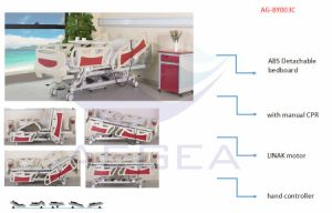 Linak Red Tilt Trendelenburg ICU Bed (AG-BY003C) pictures & photos