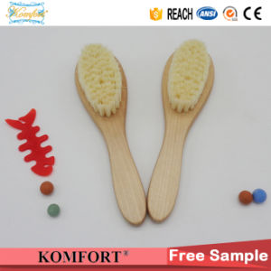 Wood Comb Custom Goat Soft Nylon Mini Baby Hair Brush pictures & photos