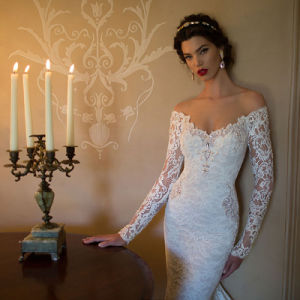 Lace Mermaid Gown Bridal Wedding Dress (Dream-100103) pictures & photos