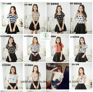 Fashion Cheaper Lady Chiffon Blouse Women T-Shirts Factory Gift pictures & photos