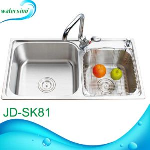 Double Bowl Kitchen Sink with Faucet Hole pictures & photos