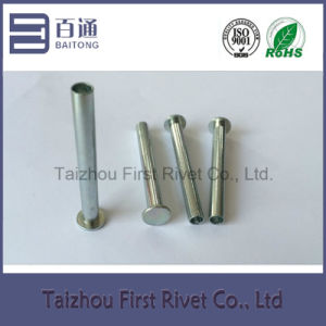 6.25X57.1mm White Zinc Plated Flat Head Semi Tubular Steel Rivet pictures & photos