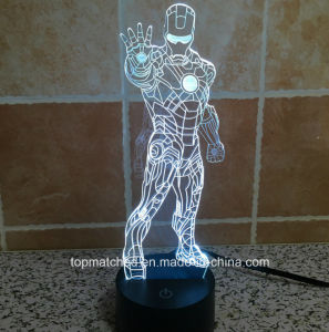 New Colorful Standing Iron Man Decorative LED 3D Night Lights pictures & photos