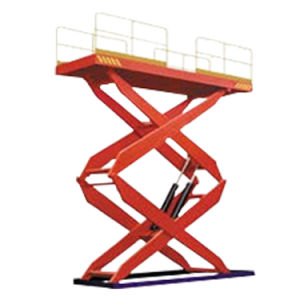 Stationary Hydraulic Scissors Lift (Double Scissors) pictures & photos
