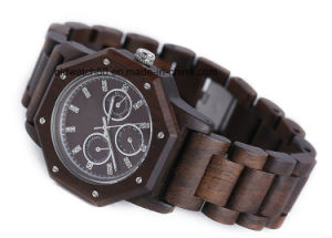 Men′s Sports Chronograph Watch Wooden with Japan Movtment pictures & photos