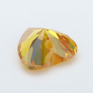 Hole Yellow Heart Shape CZ Gemstone pictures & photos