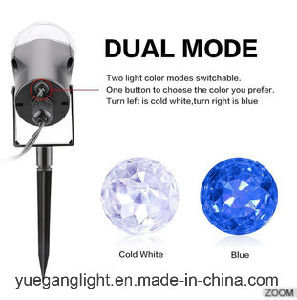 Ce&RoHS Approved Waterproof 12V Warm White Blue Christmas Outdoor LED Kaleidoscope Landscape Spotlight Laser Light for Home Garden Party Decoration pictures & photos