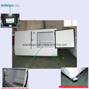 Double Doors Ice Box Freezer with Embraco Compressor pictures & photos