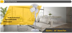"""Hot Sale 16"""" Cooling Stand Fan with Remote Control, LCD Display pictures & photos"""