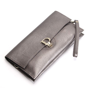 Ladies Genuine Leather Shoulder Evening Bag Wristlet Envelope Clutch Bag pictures & photos