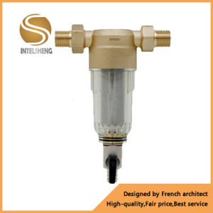 Factory Direct Pressure Relief Cap Drinking Water Brass Pre Filter with Pressure Gauge pictures & photos