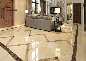 Crush Resistant Polished Porcelain Wall Tiles Formaldehyde Free for Villa pictures & photos