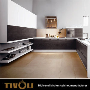 Luxury Sharp Modern Kitchen design with Custom Pantry Cupboards for Apartment Project Tivo-0008 pictures & photos