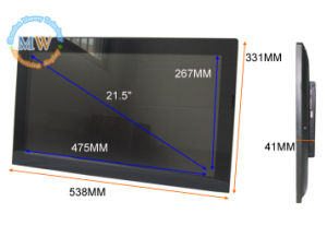 Flat Screen Slim 21.5inch Digital Photo Frame with 16: 9 Resolution 1920X1080 pictures & photos