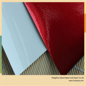 Mirror Surface PU Leather for Ball Making pictures & photos