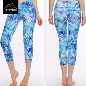 Female Tight Capri Leggings Custom Printed Design