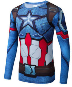 Men Dri Fit Compression Shirt with Sublimation Printing pictures & photos