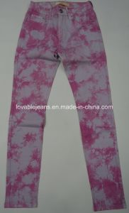 7.2oz Pink & White Ladies Stretchy Pants (HY2582-11BP) pictures & photos