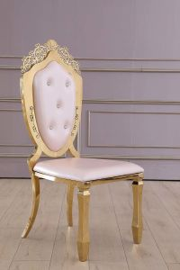 Dubai Wedding Golden Stainless Steel Chair Bottom Decoration for Banquet pictures & photos