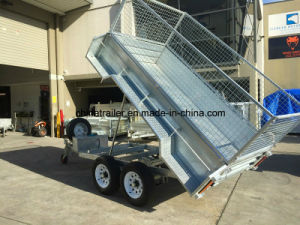 Hot Dipped Galavnised 10X6 Hydraulic Tipping Trailer pictures & photos