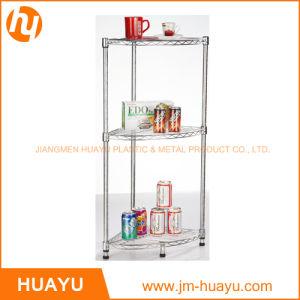 3 Tier Chrome Kitchenware Homeware Wire Storage, Bathroom Corner Rack, Corner Stand pictures & photos