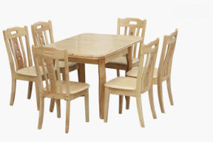 Dining Table and Chairs Set/Wood Dining Furniture Set (H-H0214)