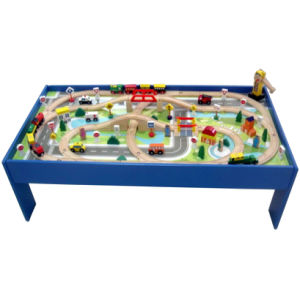 100pc Wooden Rail - Way Table Train Set