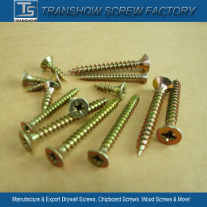 Inventory Sales Yellow Galvanized Chipboard Screws pictures & photos