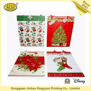Luxury Custom Printed Color Christmas Gift Shopping Bag