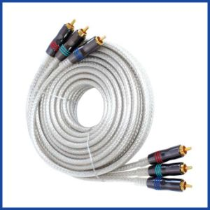 Audio Cable 3RCA to 3RCA Plug Full Metal Gold pictures & photos