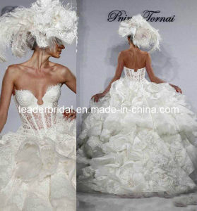 Luxury Wedding Ball Gown Tiered Lace Bridal Wedding Dresses L41 pictures & photos