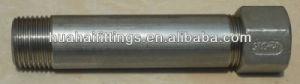 Ss304/316 Stainless Steel Screwed Barrel Nipple/Straight Thread Nipple