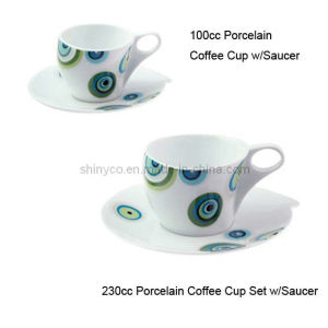Porcelain Coffee Cup Set W/Saucer (Style# 2672)