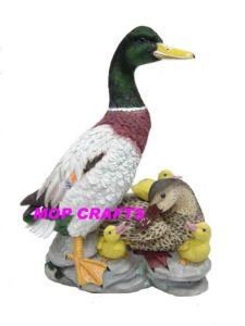 Polyresin Solar Light of Garden Solar Light Duck Decoration pictures & photos